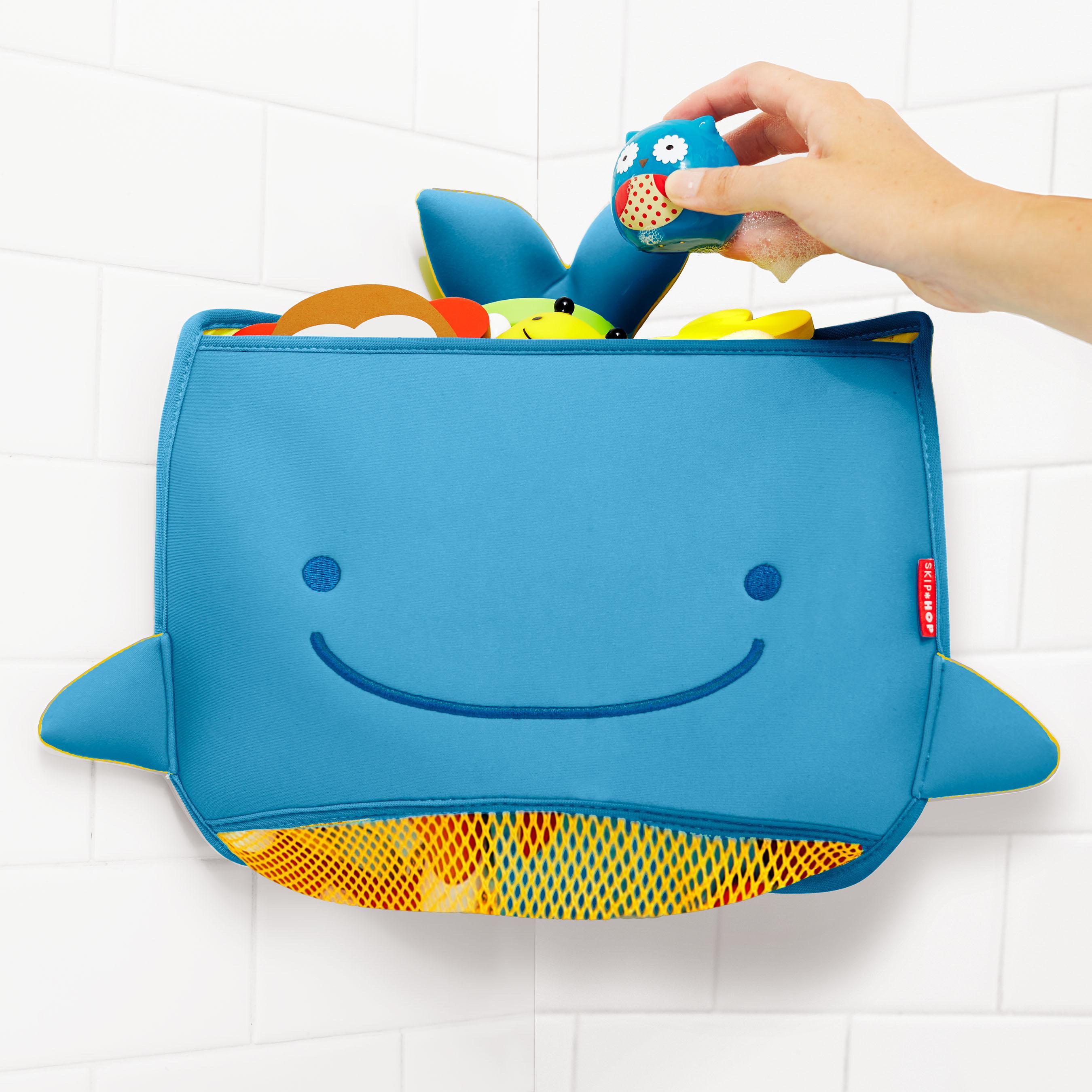 Small Toy Organizer : Skip hop moby corner bath toy organizer blue small