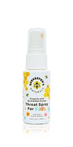 kids bee propolis throat spray immune support flu cold relief children naturally sweetened buckwheat