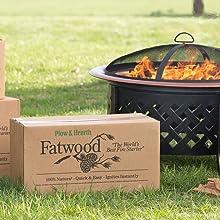 fatwood, fire starter, fire pit, outdoor fireplace
