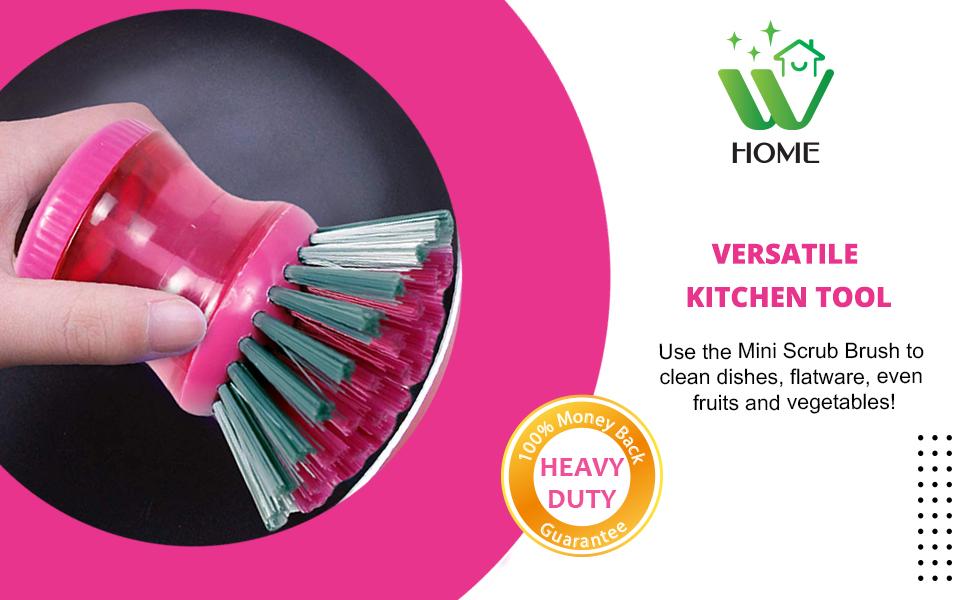 good grips soap dispensing dish brush refills , mini scrubber, mini scrub brush