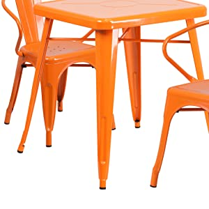 commercial grade indoor outdoor table set with two chairs