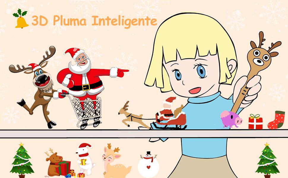 Nulaxy Reno Pluma 3D, 3D Pen Inteligente con Mensaje de Voz ...