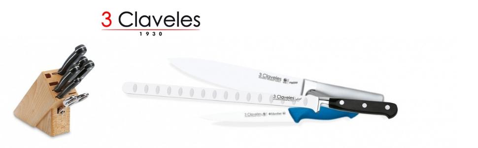 3 Claveles - Cuchillo Cocinero, Pulido Mate, Acero Inoxidable, línea DOMVS - (20cm - 8