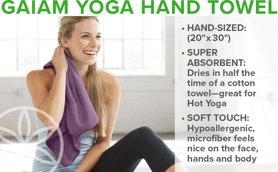 Gaiam Yoga Hand Towel