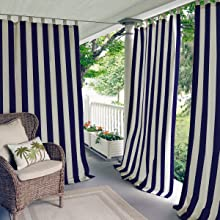 Darien Indoor Outdoor Window Panels Elrene Home Fashions