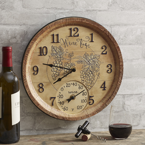 indoor outdoor thermometer temperature clock sign plaque living wine decoration corkscrew opener
