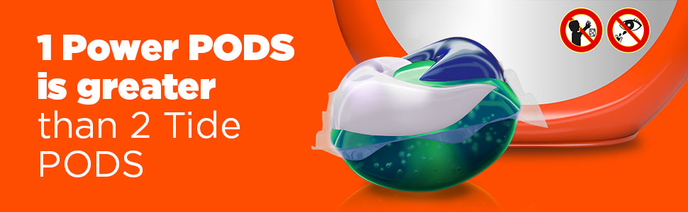 1 POWER PODS is greater than 2 Tide PODS