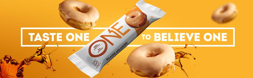 One Bar, One Brands, One Protein Bar, Protein Bar, Maple Glazed Doughnut Protein Bar, One