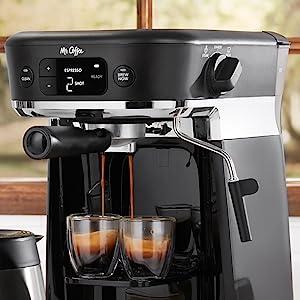 espresso being made