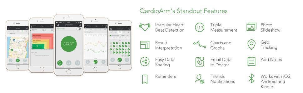 Amazon.com: Qardio QardioArm Monitor de presión sanguínea ...