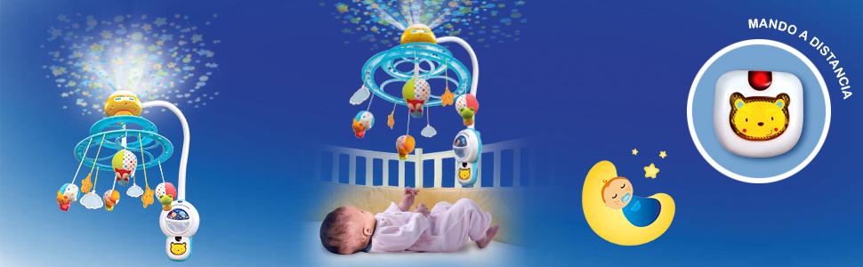 VTech Baby 3480-181022 Noche Estrellitas - Proyector móvil para bebé, con luces y sonidos relajantes, lámpara/módulo extraíble, mando a distancia y ...