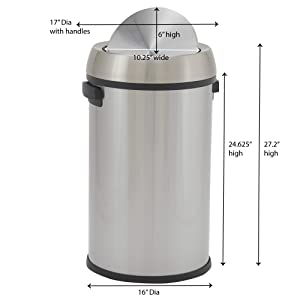 Large; trash; can; bin; commercial; industrial;