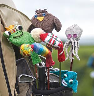 Knitted Golf Club Covers Twenty To Make Amazoncouk Susie Johns