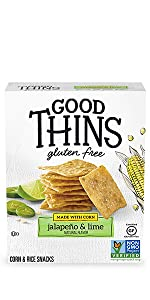 Good Thins Jalapeño amp; Lime Corn amp; Rice Snacks Gluten Free Crackers