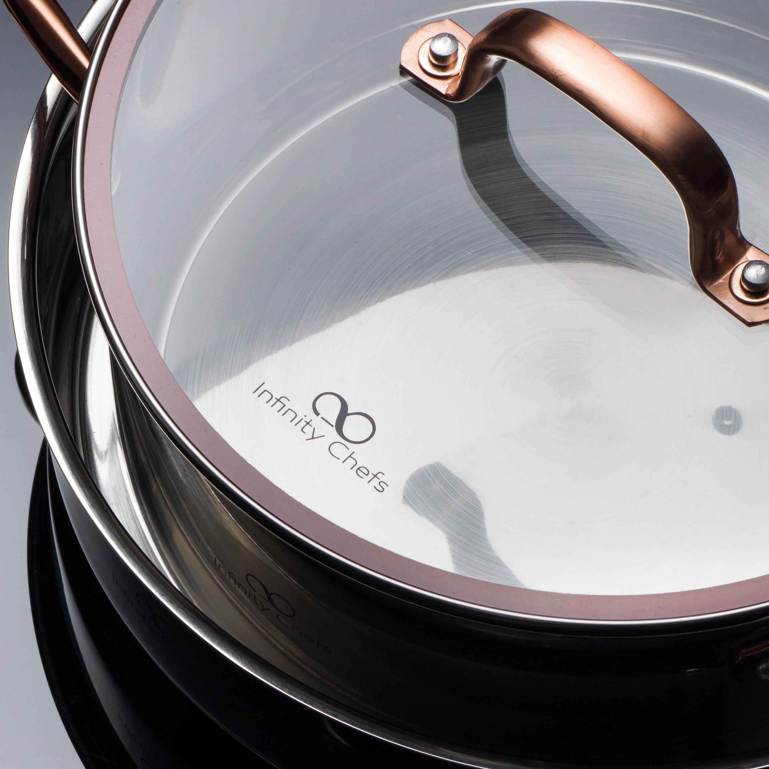 Bergner Infinity Chef Cazo de Inducción 1.3 l, Acero Inoxidable, Bronce, 16 cm