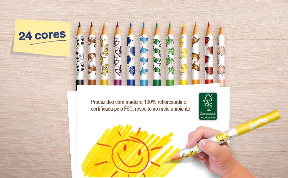 ecolápis colorido, lápis de cor, jumbo, faber-castell, ecolápis de cor jumbo