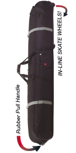 ski bag, double ski bag, ski and snowboard bag, padded ski snowboard bag