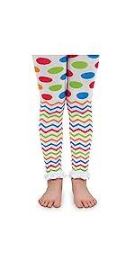 Jefferies Socks Baby Girls' Chevron Ruffle Footless Tights