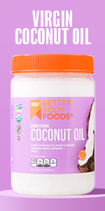 Virgin Organic Coconut Oil BetterBody Foods Dairy-Free Vegan