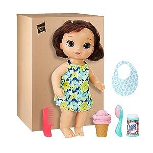 Amazon Com Baby Alive Magical Scoops Baby Brunette Baby