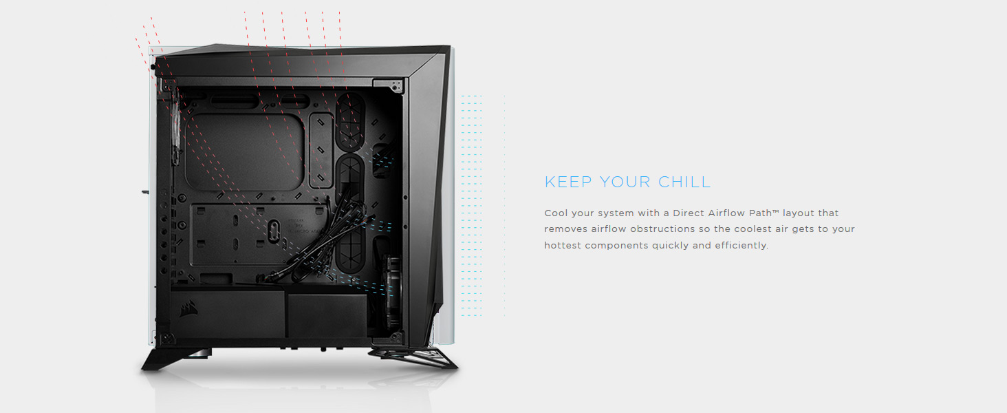 Amazon.com: CORSAIR Carbide SPEC-Omega RGB Mid-Tower Gaming Case, 2 ...