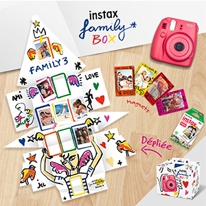 Instax family box, instax mini 8 rouge