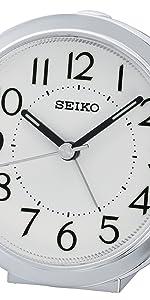 Seiko, Clock, Black, alarm, white