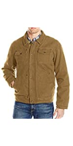 178f78060be ... Bass GH Men s Laydown Collar Two Pocket Depot Jacket With Woodsman  Plaid Lining ...