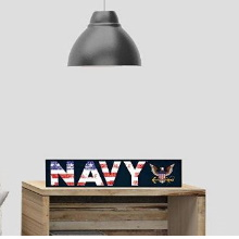 Navy Weathered Acronym Wall Sign