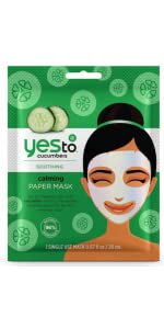 yes to;yes to cucumber;yes to sheet mask;paper mask,cucumber mask