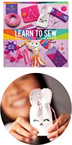 learn to sew first sewing kit sewing craft project kit sewing kit easy stitch kit basic sewing gift