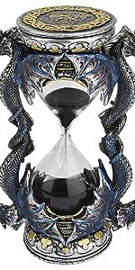 Design Toscano Dragon de la Porte de la Mort Statue de Sablier Décor Gothique, 15 cm, polyrésine