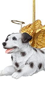 Design Toscano Honor the Pooch: Dalmatian Holiday Dog Angel Ornament