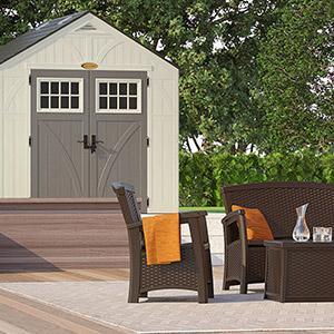 Amazon Com Suncast Outdoor Trash Hideaway Garden Amp Outdoor