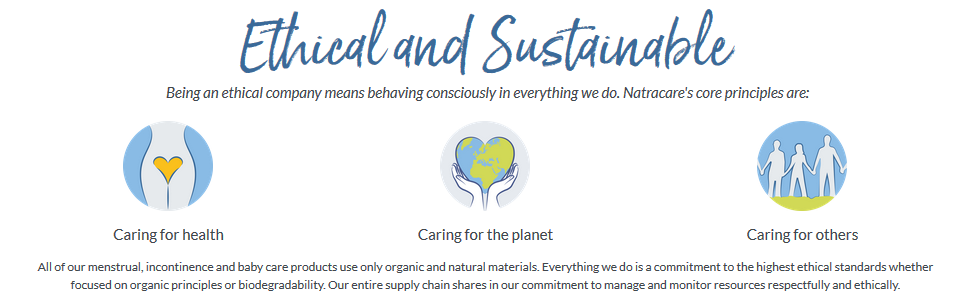 Natracare Ethical Sustainable