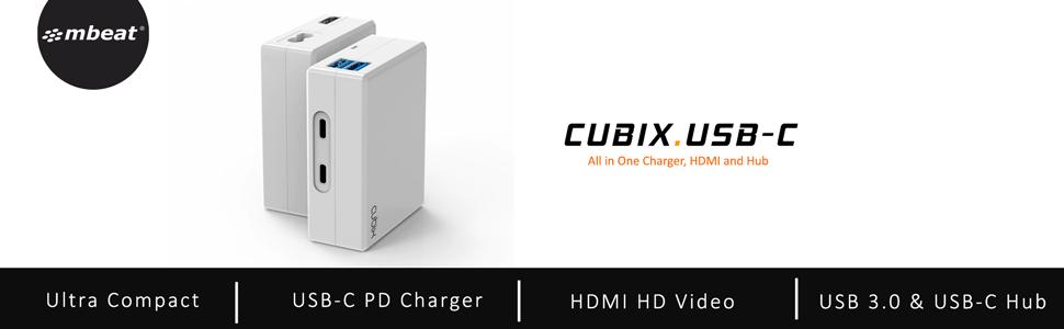 mbeat mb-cub-01w cubix usb-c charger hero image banner on amazon