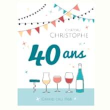 Etiquettes bouteilles anniversaire adulte vin champagne bière