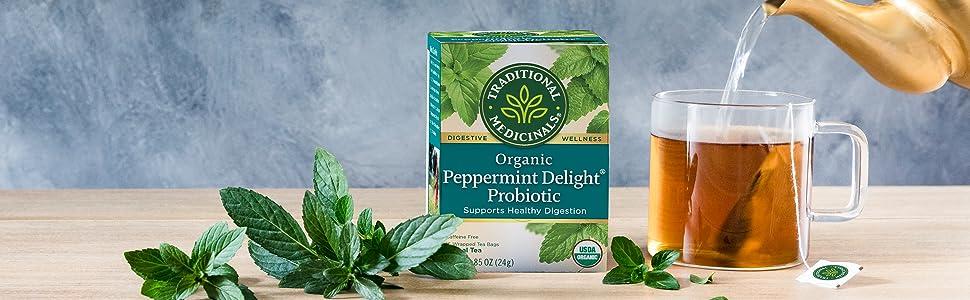Traditional Medicinals Organic Peppermint Delight Probiotic Tea