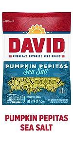 DAVIDs salted pumpkin pepita seeds