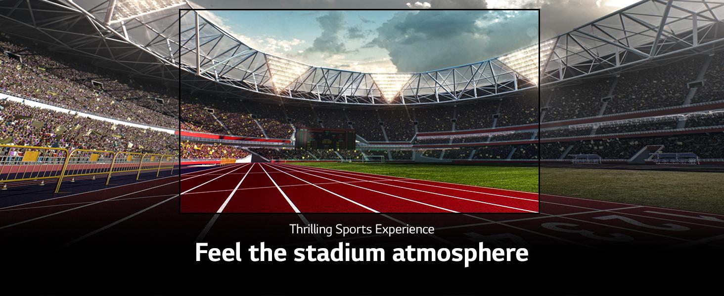 Feel the stadium atmosphere