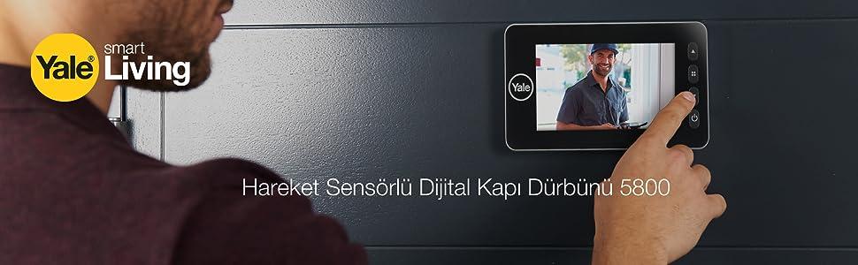 Hareket Sensörlü Dijital Kapı Dürbünü 5800