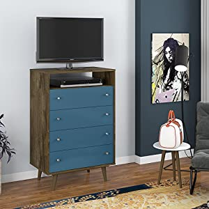 Modern 4 Drawer Bedroom Dresser And TV Stand