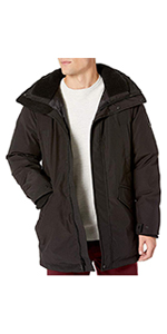 Bomber Jacket with Faux-Fur Trimmed Hood