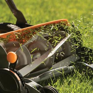 Largeur de coupe: 46 cm StaySharp Max 1000591 Noir//Orange//Argent/é Fiskars Tondeuse /à gazon manuelle Tondeuse /à cylindre avec syst/ème de coupe sans frottement des lames