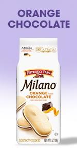 Milano Orange Chocolate feature rich dark chocolate and the flavor of bright citrus.