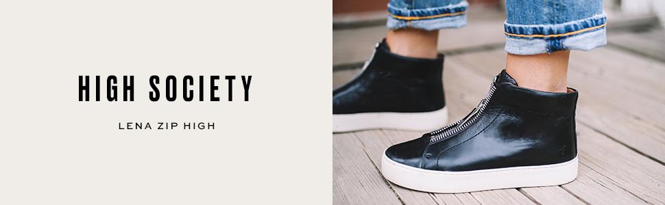 Lena Zip High Fashion Sneaker