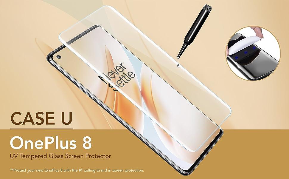 Case U OnePlus 8 UV Tempered Glass