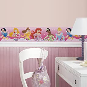 RoomMates Disney Princess Dream From The Heart Pink Peel and Stick ...