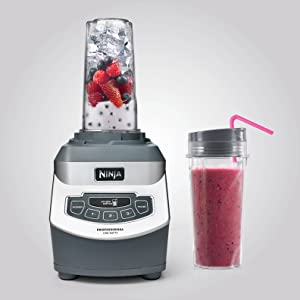 Professional blender with single serve cups
