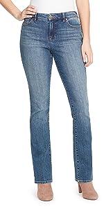 bandolino blu mandie boot cut stretch denim jeans
